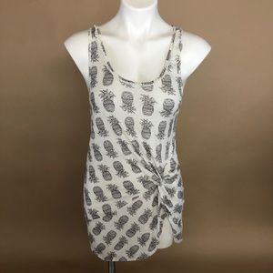 Victorias Secret Pineapple Twisted Cover Up Tunic
